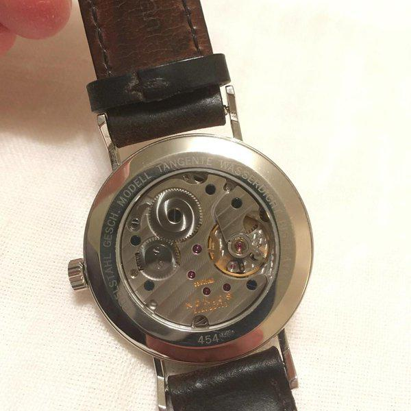 FS: NOMOS Tangente Date (ref. 107) with extra strap 5