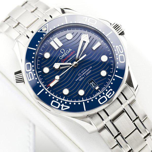 fsot - Omega Seamaster 300 - Blue - Wave Dial - 42mm - Master 8800 ( new / 2020 ) 5