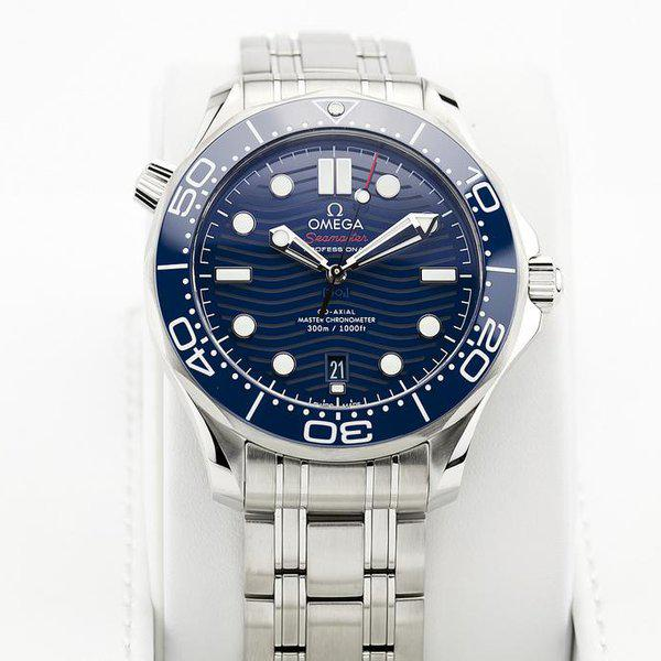 fsot - Omega Seamaster 300 - Blue - Wave Dial - 42mm - Master 8800 ( new / 2020 ) 3