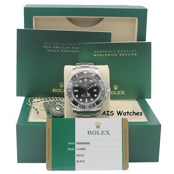 FSOT: Rolex 116660 Deep Sea SeaDweller DSSD Black Dial Box & Papers 16