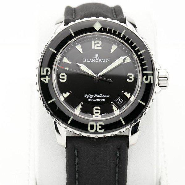 fsot - Blancpain Fifty Fathoms - Black - 45mm 5015-1130-52A ( complete ) 3