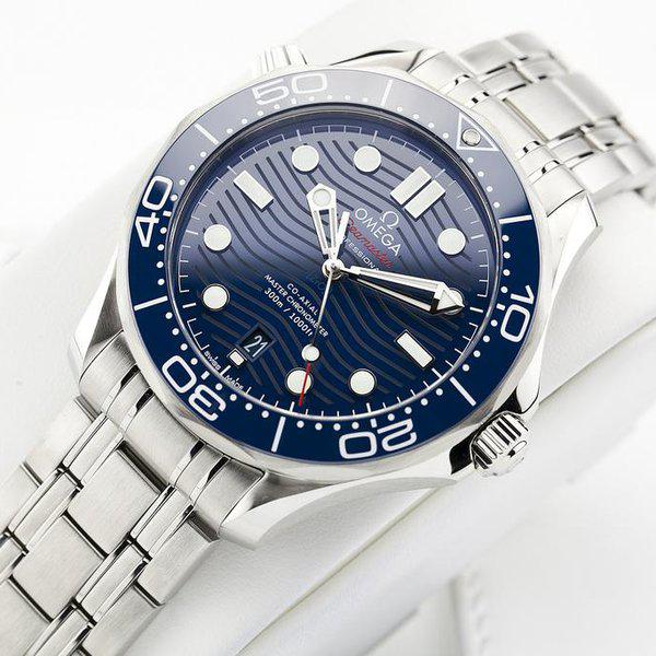 fsot - Omega Seamaster 300 - Blue - Wave Dial - 42mm - Master 8800 ( new / 2020 ) 4