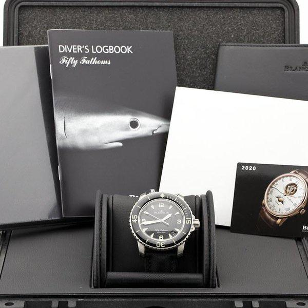 fsot - Blancpain Fifty Fathoms - Black Titanium - 45mm 5015-12B30-B52 ( new / 2020 ) 10