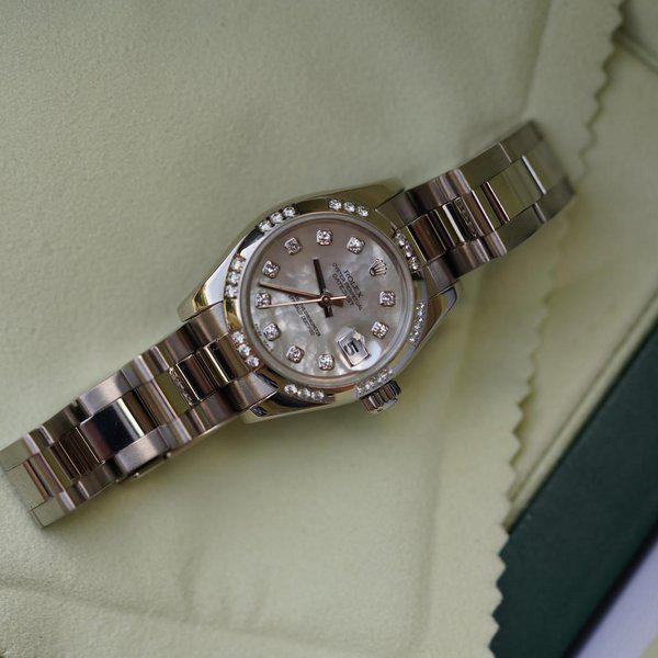 FS: Rolex Datejust Oyster 179369 White Gold with MOP Diamond dial and Diamond bezel 1