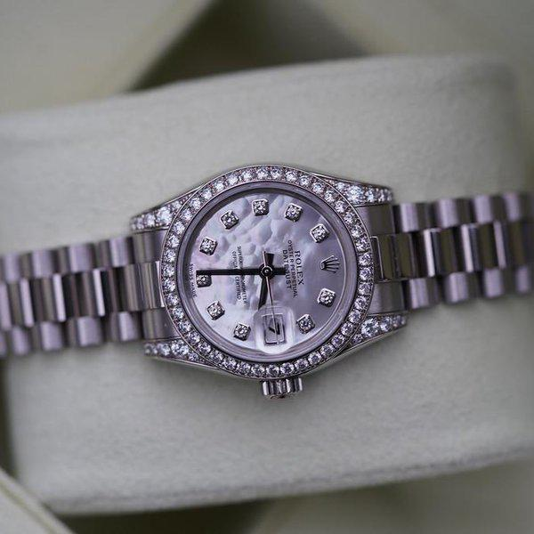 FS:Rolex Ladies President 179159 White Gold MOP diamond dial, be 2