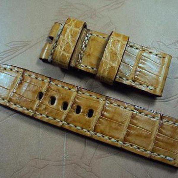 FS: Panerai custom straps A480~A494 include crocodile straps,olive green & dark gray straps. Cheergiant straps 25