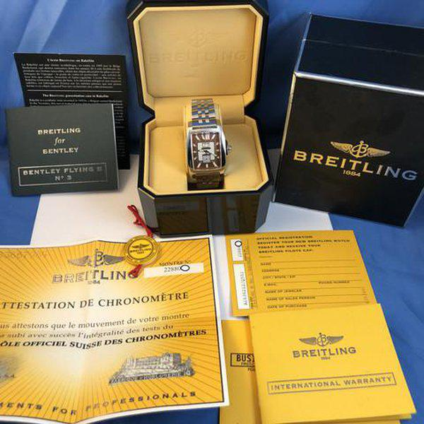 FS: Breitling Bentley Flying B No 3, A16362, Big Date, Steel Brown, Bracelet, Complete. NEW Price Reduction 3