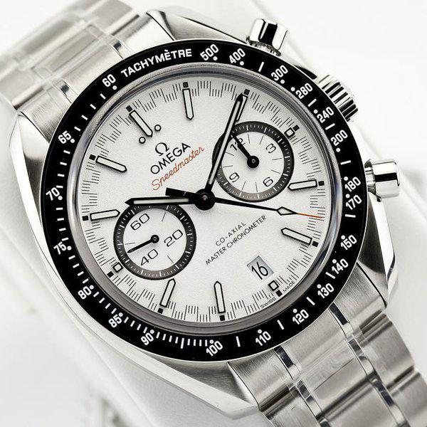 fsot - Omega Speedmaster - Racing Master Co-Axial 44.25mm - White Dial ( new / 2020 ) 7