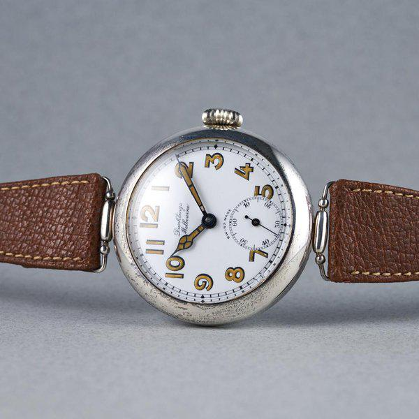 FS: 1920's Dunklings Trench Watch with White Porcelain Dial 11