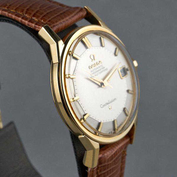 FS: 1960s YG Omega Constellation Ref: 168.005 with Silver Pie-Pan Dial 6