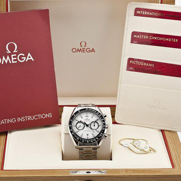 fsot - Omega Speedmaster - Racing Master Co-Axial 44.25mm - White Dial ( new / 2020 ) 12