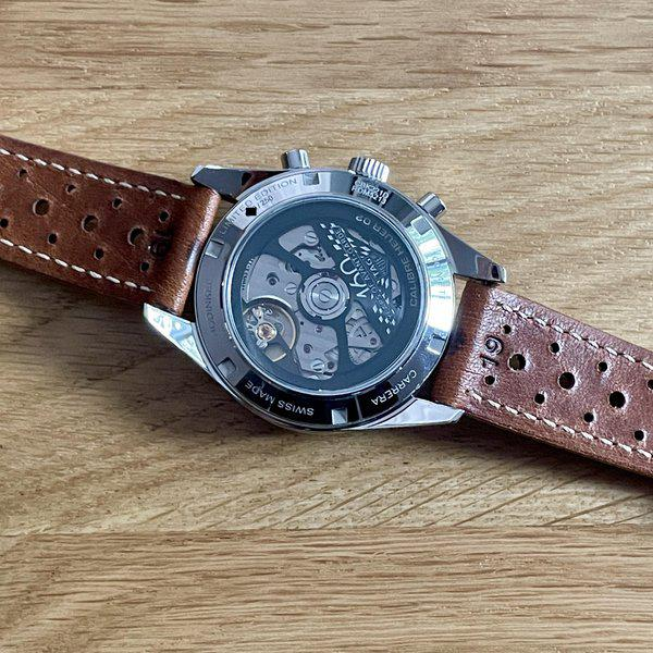 FS: Hodinkee / Heuer Carrera Dato Limited Edition of 250 - Full Kit w/ racing strap and vintage Heuer buckle 6