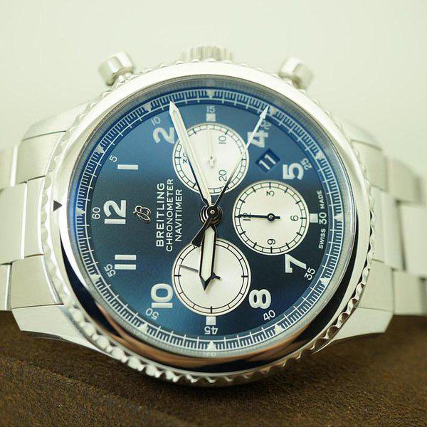 FSOT:Breitling NAVITIMER 8 B01 CHRONOGRAPH AUTOMATIC BLUE DIAL 43MM WARRANTY FULL SET 10