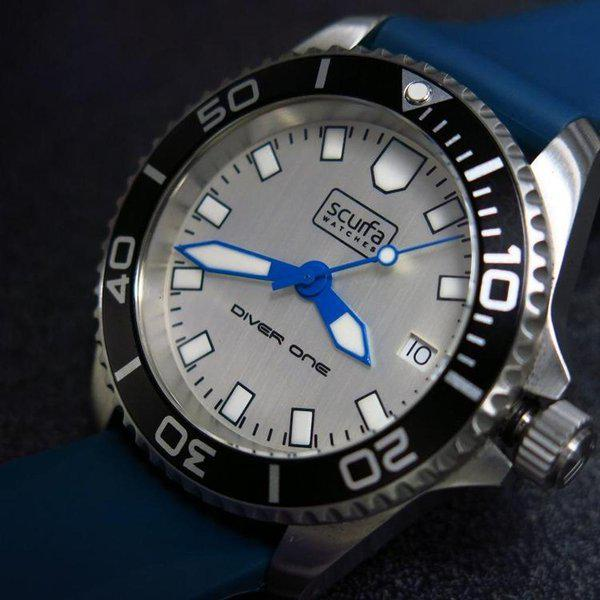 TRADED - Sold Out Scurfa D1 500m with Silver Dial Blue hands 2