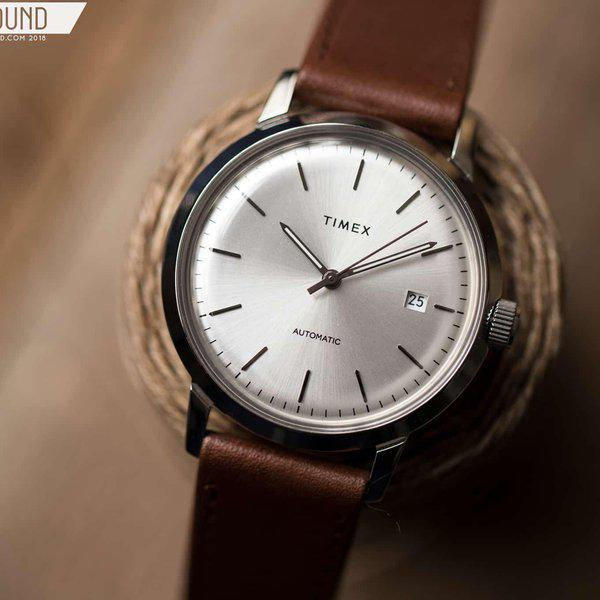SOLD - Timex Marlin Silver Sunburst dial Automatic 2