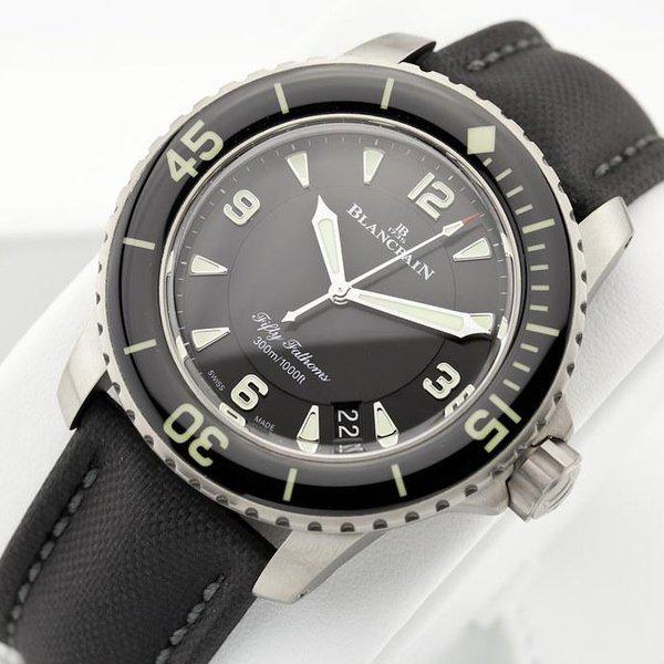 fsot - Blancpain Fifty Fathoms - Black Titanium - 45mm 5015-12B30-B52 ( new / 2020 ) 5